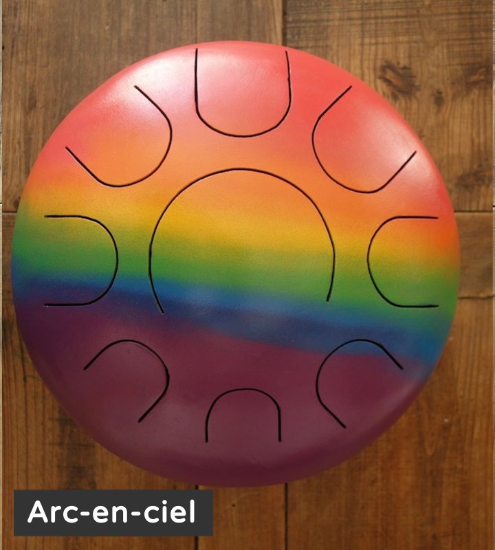 Arc en ciel 9l design steel tongue drum soundcircle