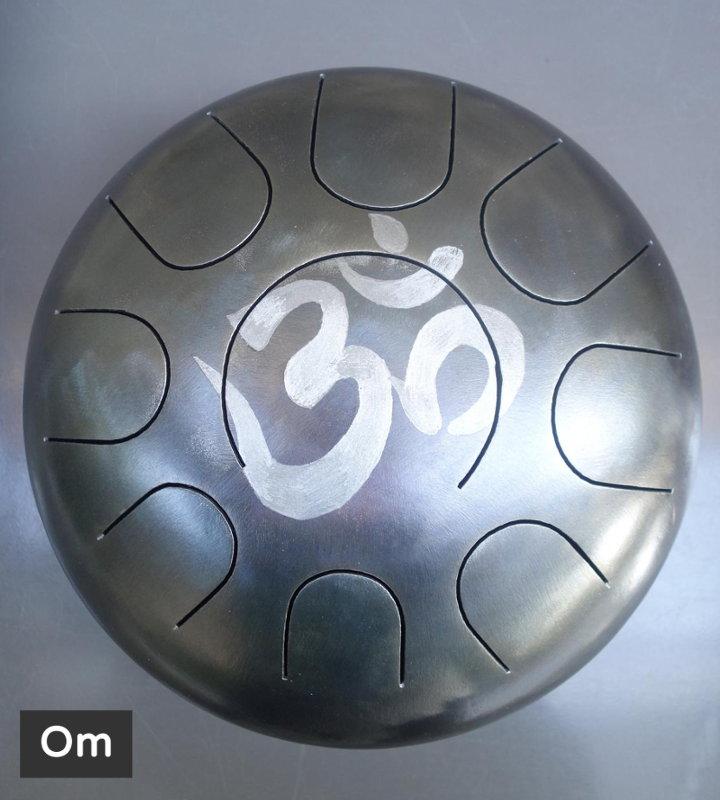 Om décoration gravure personnalisé Steel Tongue Drum - Sound Circle