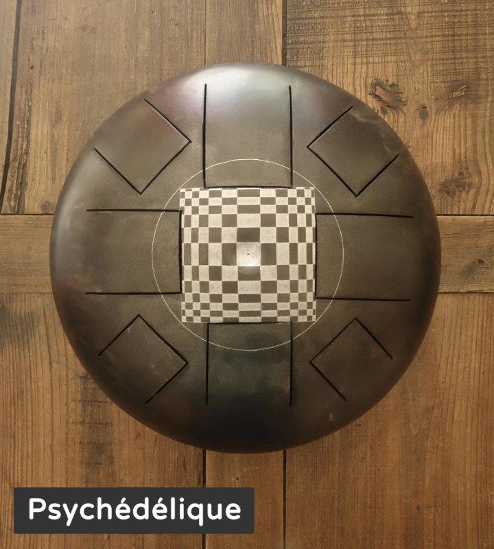 Psychedelique décoration gravure personnalisé Steel Tongue Drum - Sound Circle