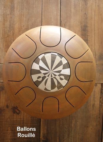 Steel tongue drum Sound circle - Gravure crop circle