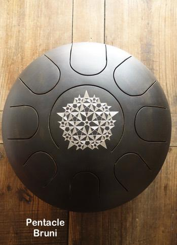 Steel tongue drum Sound circle - Gravure crop circle