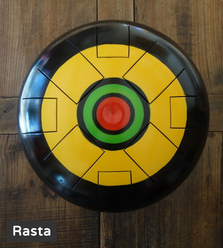 Rasta design steel tongue drum soundcircle