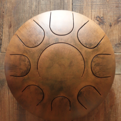 Steel tongue drum 9 notes rouillé - Sound Circle