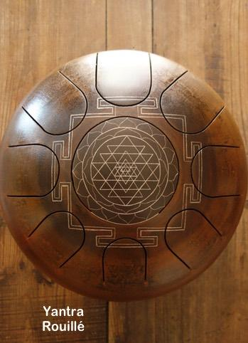 Steel tongue drum Sound circle - Gravure yantra